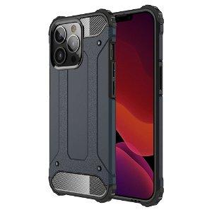iPhone 13 Pro Armor Guard Håndværker Bagside Cover - Mørkeblå