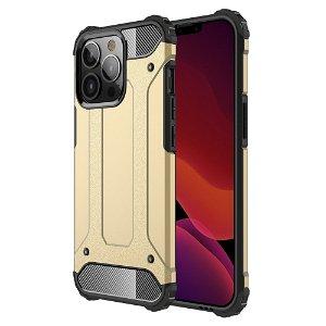 iPhone 13 Pro Armor Guard Håndværker Bagside Cover - Guld