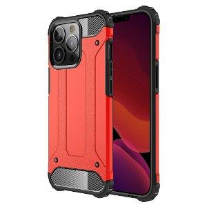 iPhone 13 Pro Armor Guard Håndværker Bagside Cover - Rød