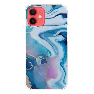 iPhone 13 Fleksibel Plastik Bagside Cover - Flydende Marmor