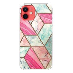 iPhone 13 Fleksibel Plastik Bagside Cover - Elegant Marmor