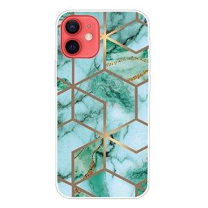 iPhone 13 Fleksibel Plastik Cover - Grøn Marmor