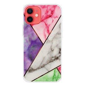 iPhone 13 Fleksibel Plastik Bagside Cover - Multi Marmor
