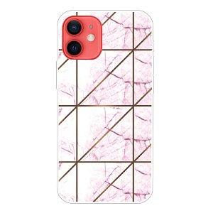 iPhone 13 Fleksibel Plastik Bagside Cover - Lyserød Marmor