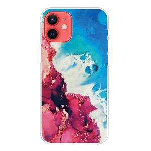 iPhone 13 Fleksibel Plastik Bagside Cover - Blå / Rød