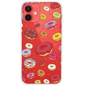 iPhone 13 Fleksibel Plastik Bagside Cover - Doughnuts