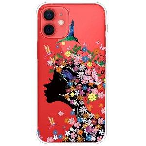 iPhone 13 Fleksibel Plastik Bagside Cover - Blomster og Skønhed