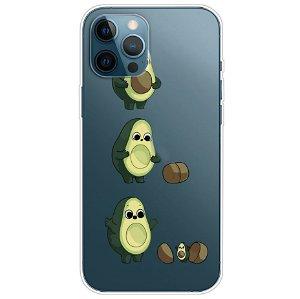 iPhone 13 Pro Fleksibel Gennemsigtig Plastik Bagside Cover - Avocado