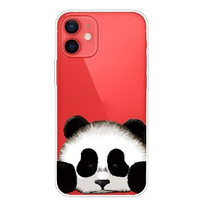iPhone 13 Mini Fleksibel Gennemsigtig Plastik Cover- Panda