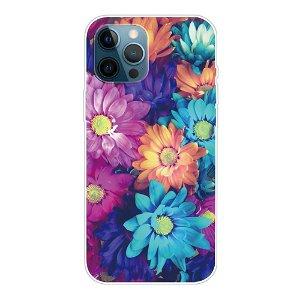 iPhone 13 Pro Max Fleksibel Plastik Bagside Cover - Farverige Blomster