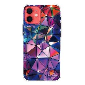 iPhone 13 Fleksibel Plastik Bagside Cover - Farvet Diamant
