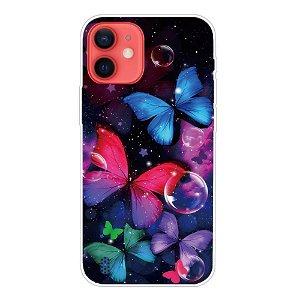 iPhone 13 Fleksibel Plastik Bagside Cover - Smukke Sommerfugle
