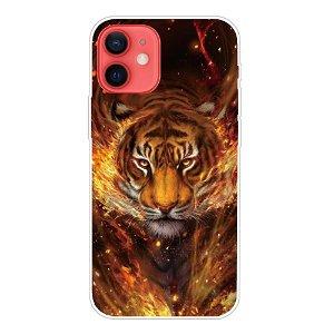 iPhone 13 Fleksibel Plastik Bagside Cover - Ild & Tiger
