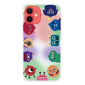 iPhone 13 Fleksibel Plastik Bagside Cover - Søde Figurer