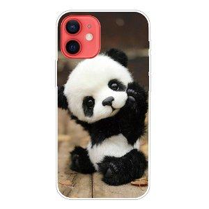 iPhone 13 Fleksibel Plastik Bagside Cover - Lille Panda