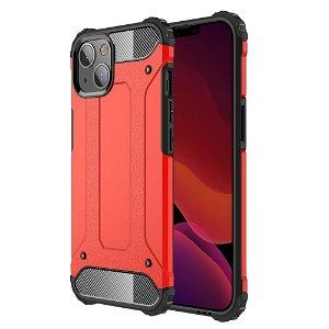 iPhone 13 Mini Armor Guard Håndværker Bagside Cover - Rød