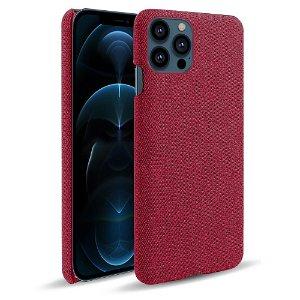 iPhone 13 Pro KSQ Stof Plastik Bagside Cover - Rød