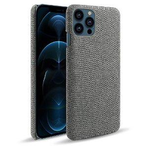 iPhone 13 Pro KSQ Stof Plastik Bagside Cover - Grå