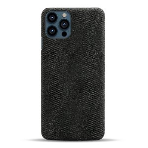 iPhone 13 Pro Max KSQ Stof Plastik Bagside Cover - Sort