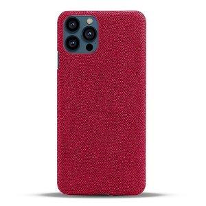 iPhone 13 Pro Max KSQ Stof Plastik Bagside Cover - Rød
