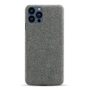iPhone 13 Pro Max KSQ Stof Plastik Bagside Cover - Mørke Grå