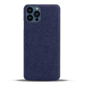 iPhone 13 Pro Max KSQ Stof Plastik Bagside Cover - Blå