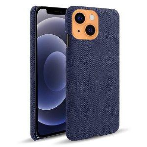 iPhone 13 KSQ Stof Plastik Bagside Cover - Blå
