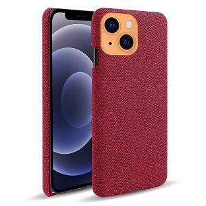 iPhone 13 Mini KSQ Stof Plastik Bagside Cover - Rød