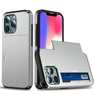 iPhone 13 Pro Max Håndværker Cover m. Kortholder - Grå