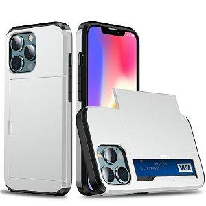 iPhone 13 Pro Max Håndværker Cover m. Kortholder - Sølv