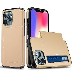 iPhone 13 Pro Max Håndværker Cover m. Kortholder - Guld