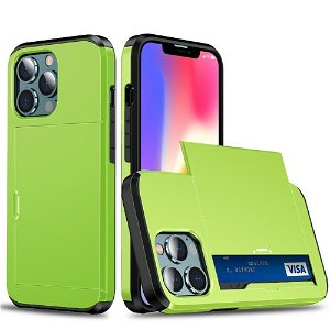 iPhone 13 Pro Max Håndværker Cover m. Kortholder - Grøn