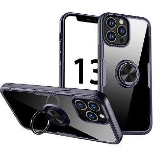 iPhone 13 Pro Max Håndværker Bagside Cover m. Magnetisk Kickstand - Gennemsigtig / Lilla