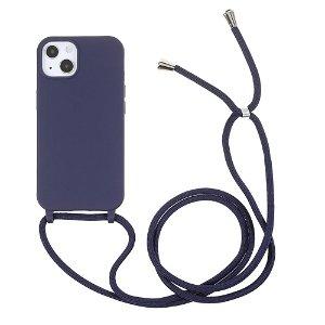iPhone 13 Fleksibelt Cover m. Snor - Blå