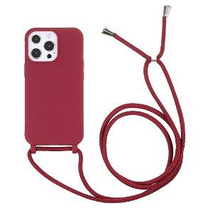 iPhone 13 Pro Max Fleksibelt Cover m. Snor - Rød