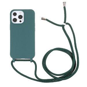 iPhone 13 Pro Max Fleksibelt Cover m. Snor - Grøn