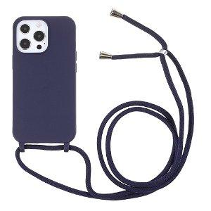 iPhone 13 Pro Max Fleksibelt Cover m. Snor - Blå