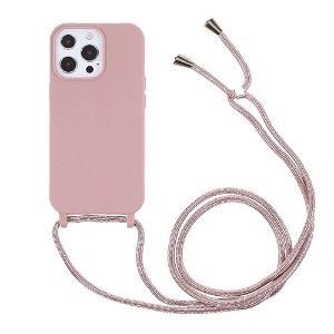 iPhone 13 Pro Max Fleksibelt Cover m. Snor - Lyserød