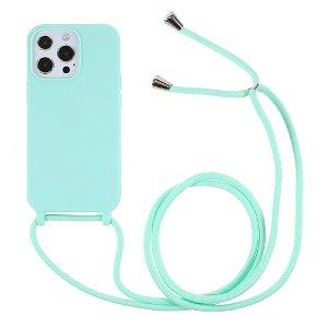 iPhone 13 Pro Max Fleksibelt Cover m. Snor - Turkis