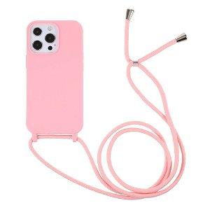 iPhone 13 Pro Max Fleksibelt Cover m. Snor - Pink