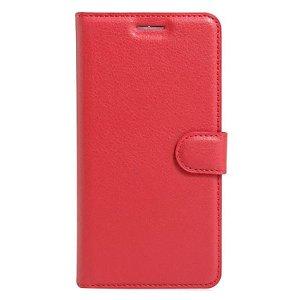 Apple iPhone SE (2020)/8/7 Litchi FlipCover m. Kortholder - Rød