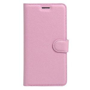 Apple iPhone SE (2020)/8/7 Litchi FlipCover m. Kortholder - Pink