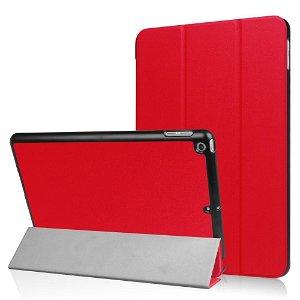 Apple iPad 9.7 2017/2018 Læder  Cover m. Stand - Rød