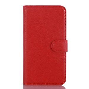 Samsung Galaxy J3 (2016) Læder Cover m. Kortholder & Stand - Rød