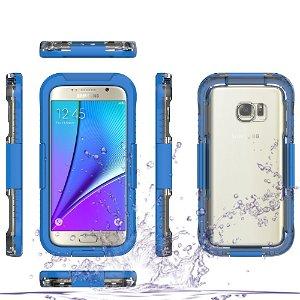 Samsung Galaxy S7 Vandtæt Cover - Blå