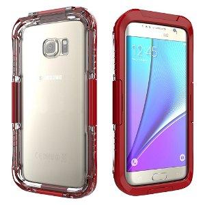 Samsung Galaxy S7 Edge Vandtæt Cover - Rød