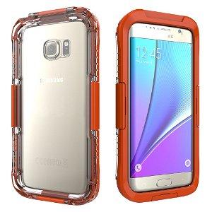 Samsung Galaxy S7 Edge Vandtæt Cover - Orange