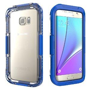 Samsung Galaxy S7 Edge Vandtæt Cover - Mørk blå