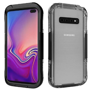 Samsung Galaxy S10+ (Plus) Waterproof Protection Case - Vandtæt Cover Sort