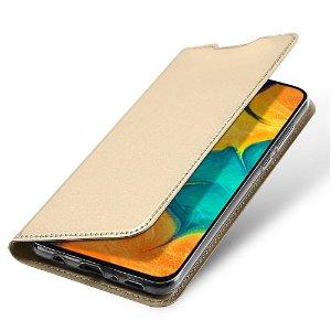 Samsung Galaxy A30 Dux Ducis Flip Cover - Guld